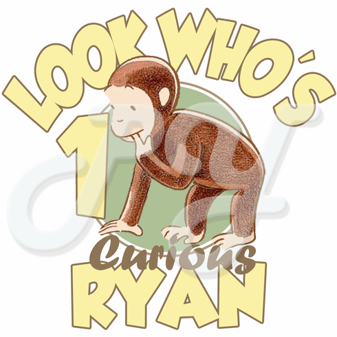 Curious George 1st Birthday personalized t shirt