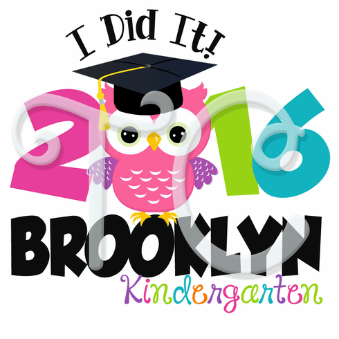 Custom Kindergarten Graduation Pink Owl T Shirt