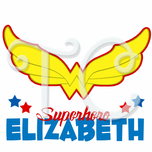 DC Superhero Girls Wonder Woman Logo Personalized Birthday t shirt