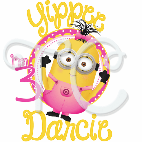 Despicable me Pink Girl Minions personalized Birthday t shirt