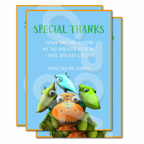 Dinosaur Train Personalized Thank you cards