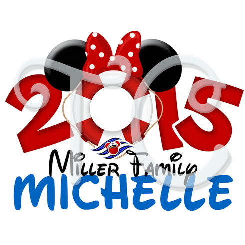 Disney Cruise Minnie Mouse Personalized T shirt