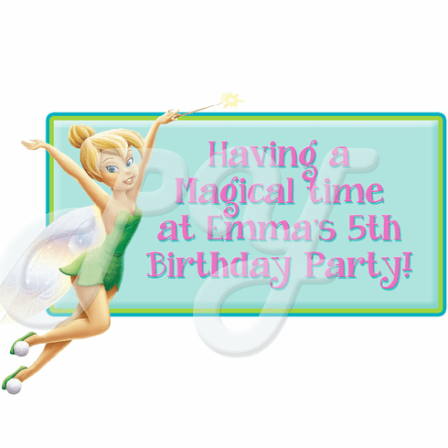 Disney Fairies Tinkerbell personalized party favor