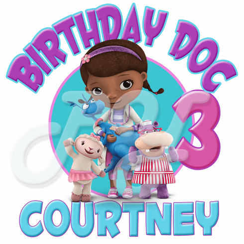 436e77a7ec56 Doc McStuffins Personalized Birthday t-shirt
