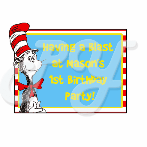 Dr. Seuss personalized party favor