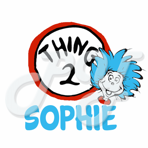 Dr Seuss Thing 1 personalized t shirt