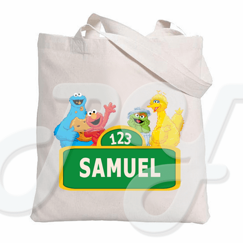 Elmo Sesame St Personalized tote bag