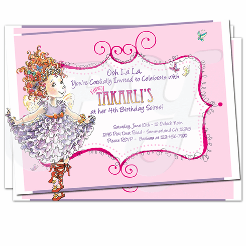 Fancy Nancy Personalized Invitations