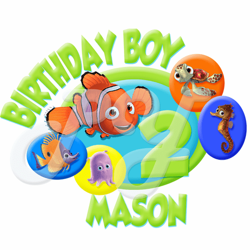 Finding Nemo Personalized Birthday t shirt