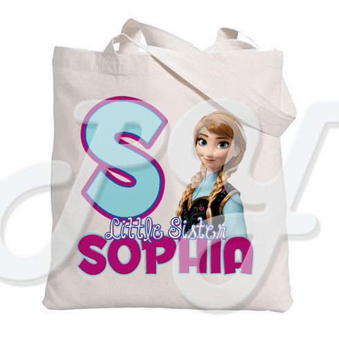 Frozen Anna Personalized Canvas Tote Bag