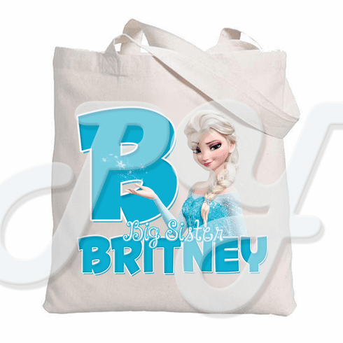Frozen Elsa Personalized Canvas Tote Bag
