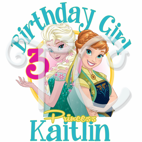 Frozen Fever Elsa & Anna Personalized Birthday t-shirt