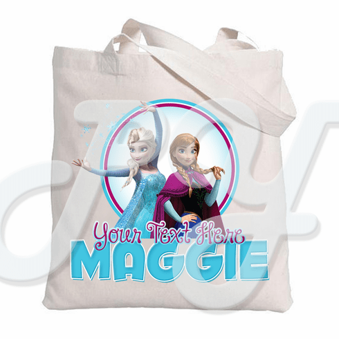 Frozen Personalized Canvas Tote Bag