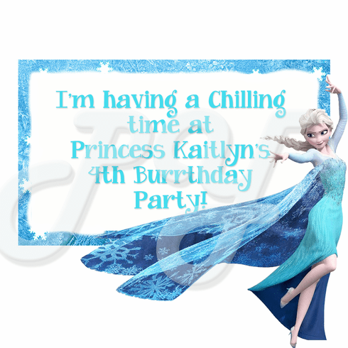 Frozen Personalized Party Favor