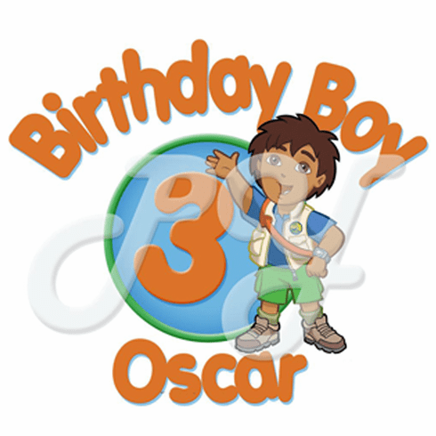 Go Diego Go Personalized Birthday t shirt