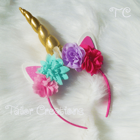 Gold Unicorn Headband