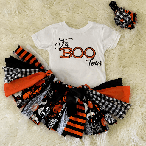 Halloween FaBoolous Custom Fabric Tutu