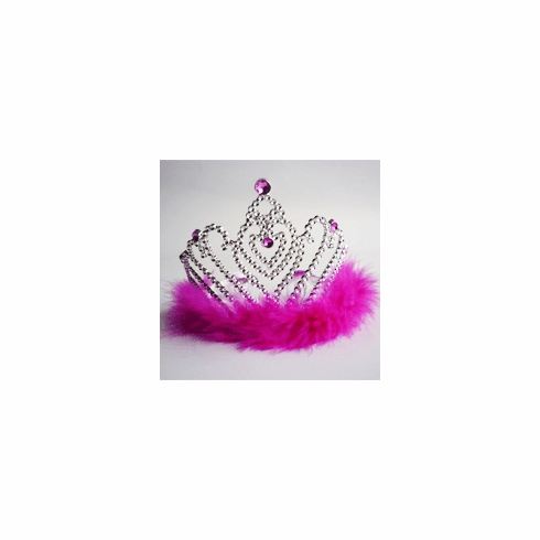 Hot Pink Heart Princess Tiara