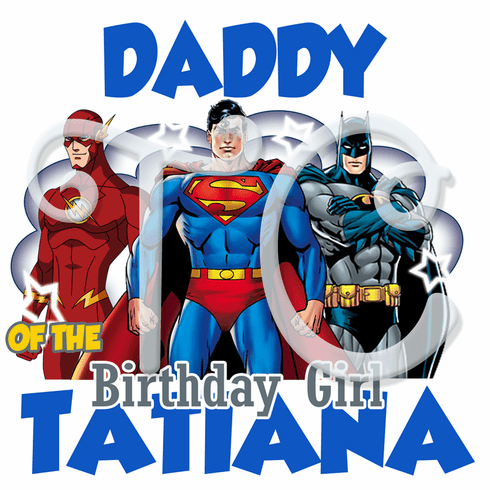 Justice League Family personalized birthday t shirt