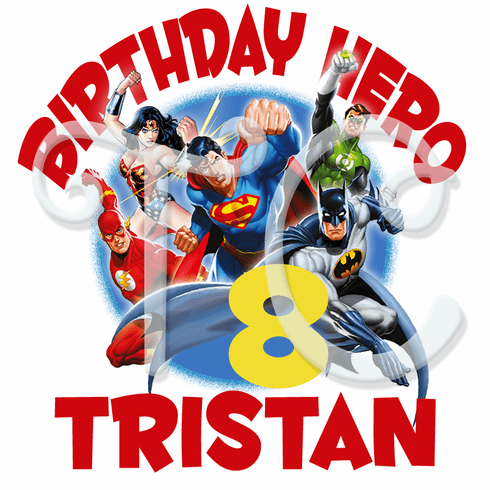Justice League Personalized Birthday T Shirt