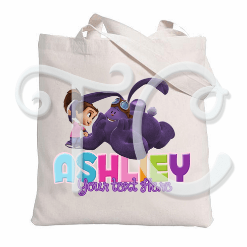 Kate and Mim Mim personalized Canvas tote bag