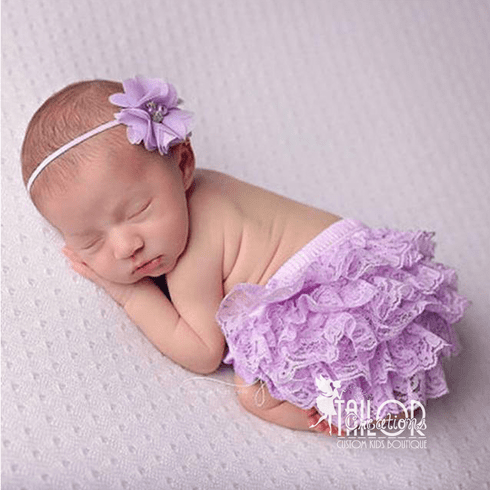 Lavender Petti Lace Bloomers Set