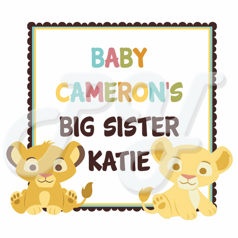 Lion King Baby Shower Personalized Party Favor