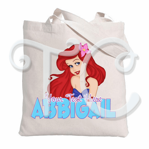 Little Mermaid Ariel Personalized Tote Bag