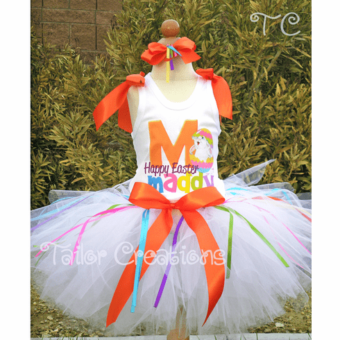 Little Miss Sunshine Easter personalized tutu set