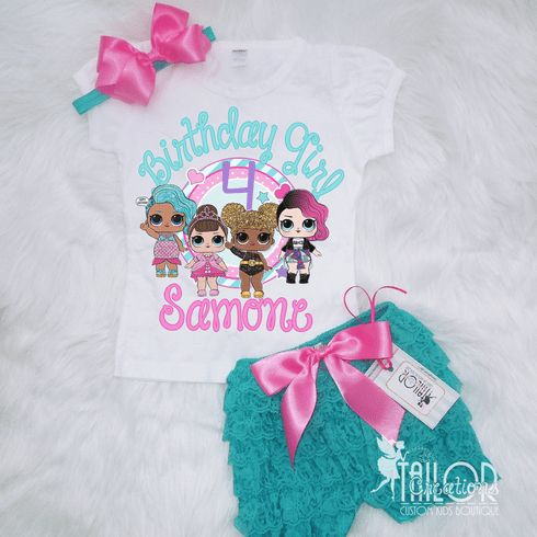 LOL Surprise Custom Birthday Petti Lace Set