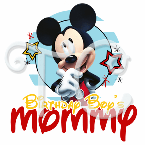 Mickey Mouse Personalized Family Birthday Shirt