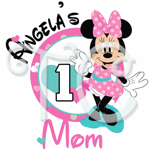Minnie Mouse 1st Birthday Parents Personalized T Shirt