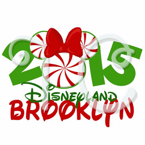 Minnie Mouse Personalized Disneyland Christmas t shirt