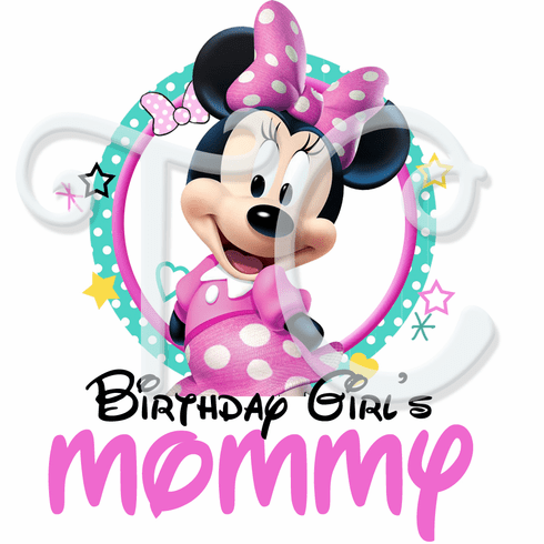 Minnie Mouse Personalized Family Birthday Shirt