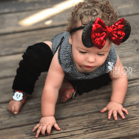 Minnie Mouse Sequin Baby Headband