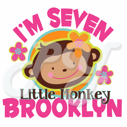 Monkey Love birthday Personalized T-shirt