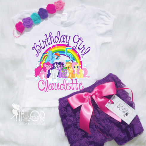 My Little Pony Personalized Petti Lace Set