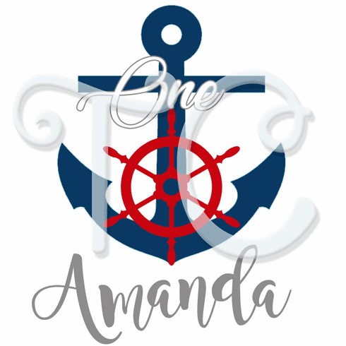 Nautical 1st Personalized Birthday shirt