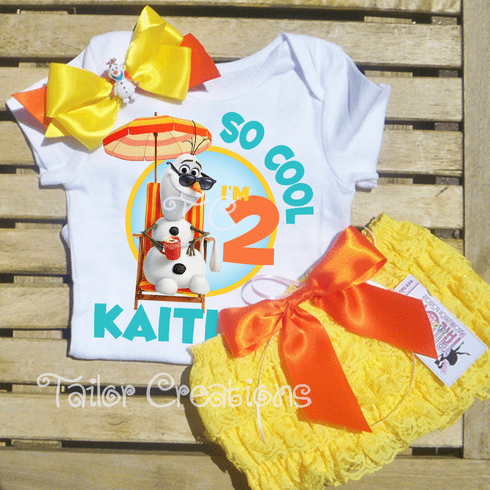 Olaf Summer Personalized Petti Lace Set