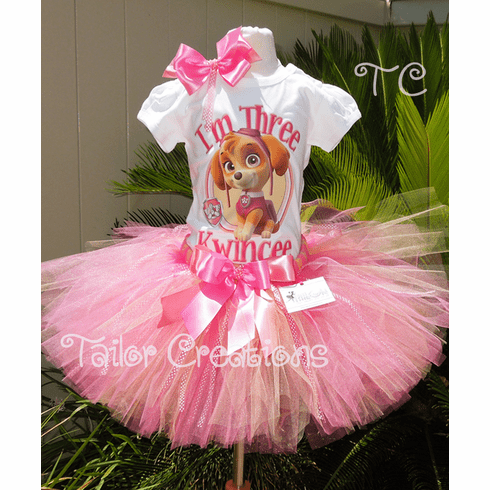 Paw Patrol Skye Personalized Birthday tutu Set