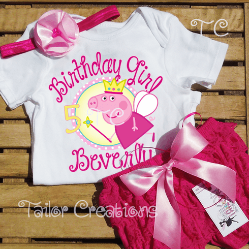 Peppa Pig Fairy Personalized Petti Lace Set