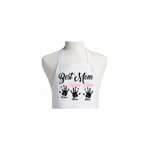 """Personalized """"Best Mom-Hands Down"""" Apron"""