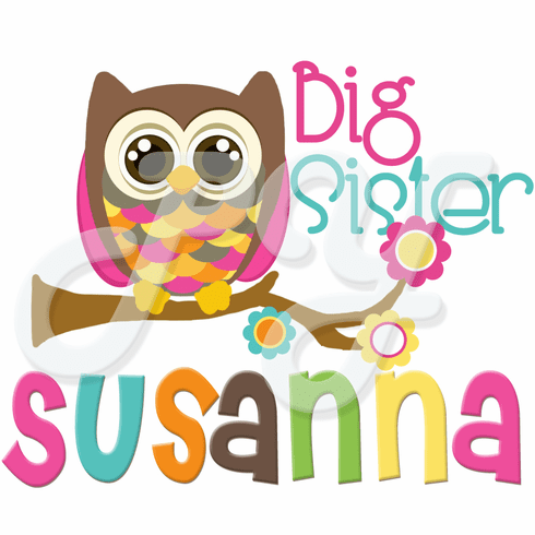 Personalized Big/Little Sister Owl t-shirt