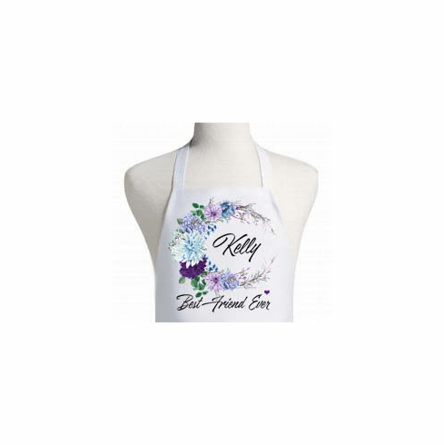 Personalized Floral Watercolor Apron