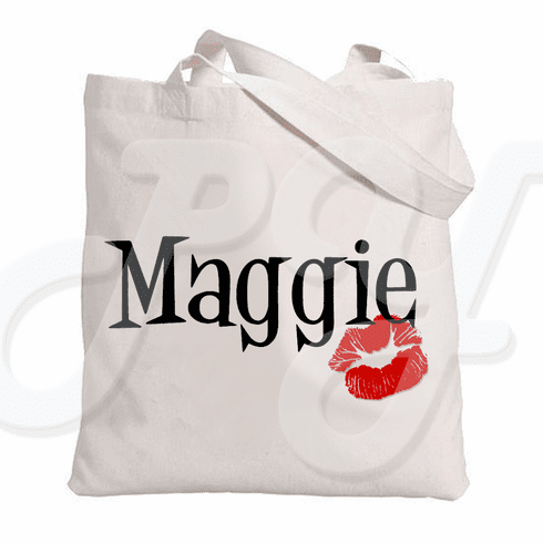 Personalized Kiss tote bag