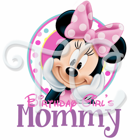 Personalized Minnie Mouse Parents Birthday Shirt