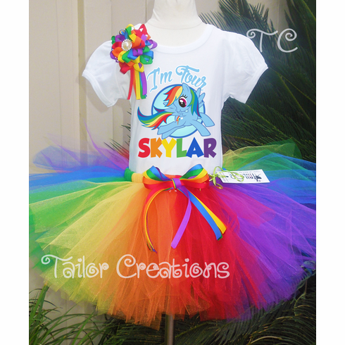 Personalized My Little Pony Rainbow Dash Birthday Tutu Set