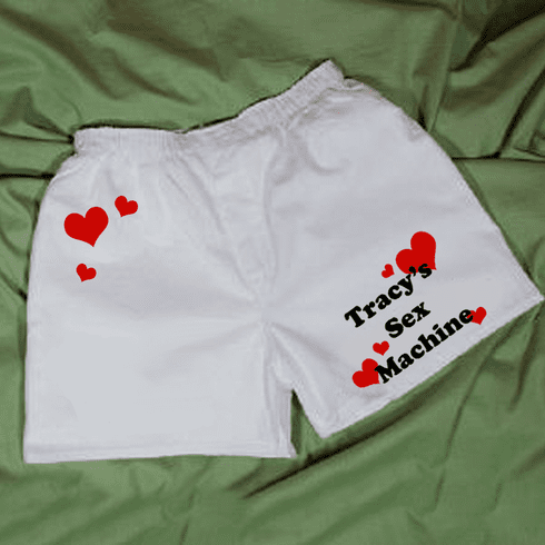 Personalized Sex Machine Valentine Men's Boxer