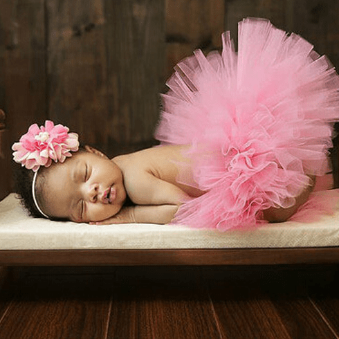 Pink Newborn tutu Custom set