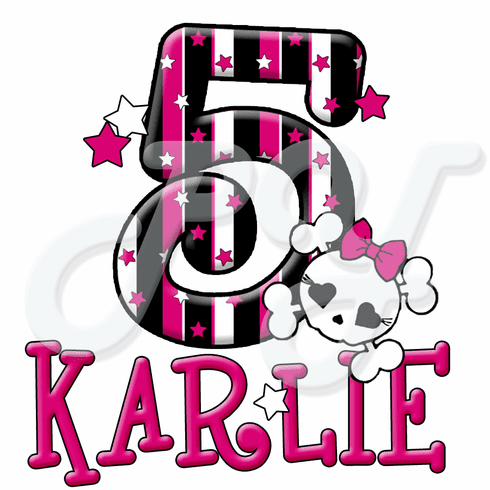 Pink Skull personalized t shirt